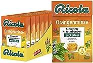 Ricola 橙薄荷,瑞士草本糖,10 x 50 克,无糖,舒缓清爽的享受