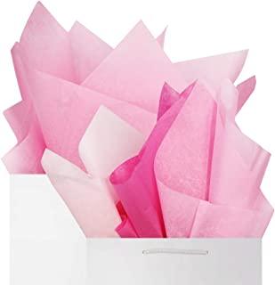 粉色纸巾礼品包装纸 60 张套装,婴儿粉色腮红粉色品红色高级混合可回收散装,66.04 厘米 x 50.88 厘米,DIY 艺术工艺装饰,婚礼,迎婴派对,BllalaLab 出品
