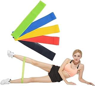 Greenf 阻力环锻炼带,阻力带,物理*,力量训练,拉伸,家庭健身,瑜伽,5 件套