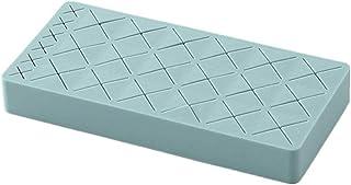 Emoly 硅胶唇膏架,高级化妆收纳盒,用于刷唇眼化妆铅笔瓶,24 个方形化妆展示盒(蓝色)