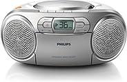 Philips 飞利浦 AZ127 便携式 CD 播放器 带收音机 盒子 动态低音增强 音频输入(3.5毫米)