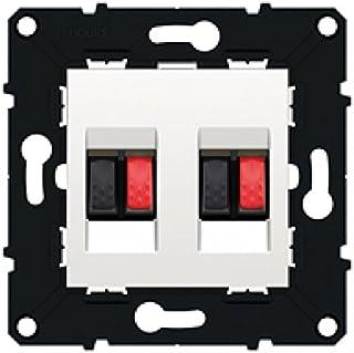Arnould arn51046 White Trim Space Evolution 2 Gang 扬声器插座