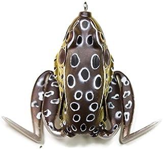 Lunkerhunt Lunker 青蛙系列 2.5 英寸绿色茶型钓鱼诱饵