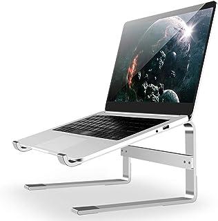 笔记本电脑支架适用于桌面,可拆卸笔记本电脑立管笔记本电脑支架人体工程学铝制笔记本电脑支架,与 MacBook Air Pro、Dell XPS、Lenovo More 10-18 英寸笔记本电脑