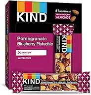 KIND 能量棒 石榴藍莓開心果,不含麩質,低糖,1.4盎司/40克,12支