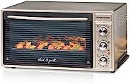 ROMMELSBACHER 迷你烤箱 BG 1650,40升烘烤室容積,60至250°C,對流和燒烤四種加熱方式,室內照明,可伸縮插口,計時器,1650W