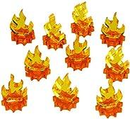 LITKO 火焰标记,迷你,荧光琥珀和透明黄色(10)