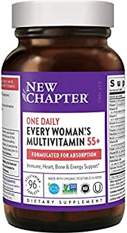 New Chapter 复合维生素软胶囊 含发酵益生菌+全食物+虾青素 适合50岁以上女性 每日一粒,55+,96粒