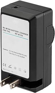 Amsahr 数码替换相机和摄像机迷你电池旅行充电器,灰色 (CH-FJNPW126-1CT)