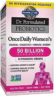 Garden of Life 生命花园 女性益生元博士,每天一次,为女性提供益生元,500亿CFU,16株菌株,货架稳定,不含麸质乳制品和大豆,益生元纤维,30粒