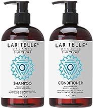 Laritelle **护理套装丝绸天鹅绒:洗发水 17.6 盎司(约 496.1 克)+ 护发素 16 盎司(约 453.6 克)