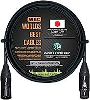 WORLDS BEST CABLES 5 英尺(约152.4厘米)– 四平衡麦克风线 由 WORLDS BEST CABLES定制 – 使用 Mogami 2534 电线和 Neutrik NC3MXX-B 公头和 NC
