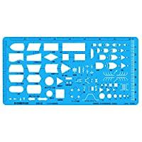 STAEDTLER 模板 マイコン設計定規 透明蓝色