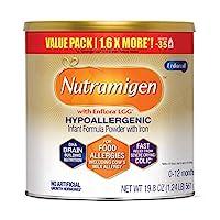 Mead Johnson 美贊臣 Enfamil Nutramigen 低致敏性嬰兒奶粉 0-12個月 無乳糖-Omega 3 DHA,LGG,鐵,19.8盎司/561g
