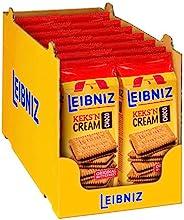 Leibniz Keks'n Cream im 14er Pack — Butterkekse mit Schoko-Creme Füllung — Schoko-Kekse wiederverschließba