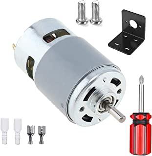 775 直流电机,12V-24V 3500-9000 RPM 15000-25000 RPM 迷你电动机,双滚珠轴承大扭矩大功率电机适用于 DIY 零件