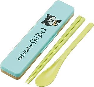 SKATER 餐具套装 筷子&勺子套装 黑头巾 柴犬 日本制 18cm CCS3SA
