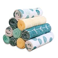 Spasilk 10 件装柔软毛巾布浴巾 *圆点 均码