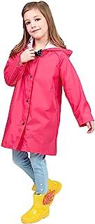 儿童耐用雨披/雨衣便携式连帽雨衣男孩女孩