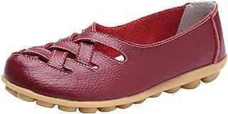 女式皮革乐福鞋休闲平底鞋橡胶鞋底