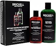 Brickell 男士日常必备面部护理例程 II - 净化炭面部清洁和日常必备面部保湿霜 - 自然有机... 香味 8 盎司
