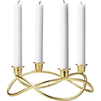 Georg Jensen SEASON 金属蜡烛架,112mm,金色