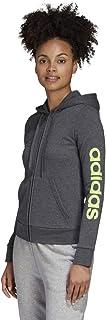 Adidas 阿迪达斯 Essentials 女式线形全拉链运动连帽衫