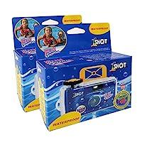 一次性单用 35 毫米胶片相机一次性防水趣味射手 400 ASA/ISO 27 曝光2 件装