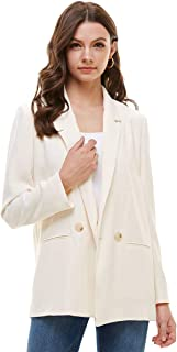 Alexander + David 女士宽松运动夹克西装 - 双扣编织贴袋