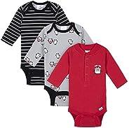 GERBER 男宝宝长袖保暖连体衣 3 件套 企鹅 Newborn