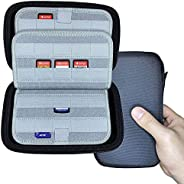JohnYes 80 游戏盒支架存储和携带盒 适用于索尼 PS Vita 游戏 Nintendo Switch/3DS/DS 和 SD 存储卡 - 黑色