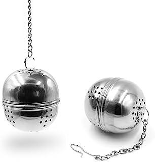 不锈钢网状茶球 2.1 英寸滤茶器滤网滤网茶间隔扩散器(蛋形)