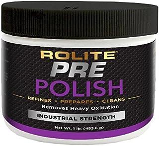 Rolite Pre-Polish 适用于重氧化、染色、变色和腐蚀金属,透明涂层和胶涂层表面 1lb RPP1#