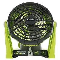 Ryobi P3320 18伏混合一體+電池或交流供電可調節室內/室外商店風扇(不含電池和延長線/僅風扇)