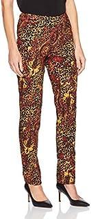SLIM-SATION 女式宽带套穿佩斯利皮肤印花裤