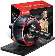 KANSOON 腹肌滚轮锻炼设备 – 3/4 腹轮创新人体工程学腹肌锻炼设备 – 家用健身腹肌滚筒 – 腹肌训练器 – 腹肌滚筒带护膝