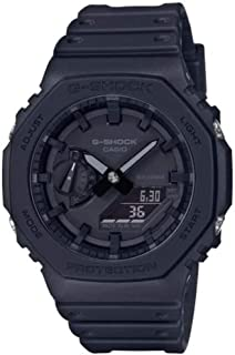 Casio 卡西欧 中性款 模拟 – 数码石英手表 带橡胶表带GA-2100-1A1ER