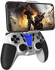 DarkWalker 无线蓝牙控制器,适用于 iOS 13 或更高版本的移动控制器支持 MFI-兼容游戏 - Android 10 云游戏支持 Xcloud Stadia Shadow - PS4 白色