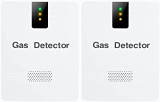 2 件装丙烷/天然气探测器警报插入式墙,Koabbit 爆炸气体监测器和可燃气泄漏检测器,甲烷、LNG,LPG,适用于家庭厨房酒店
