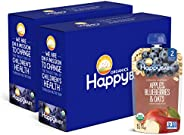 Happy Baby Clearly Crafted Organic Baby Food Stage 2, Apples Blueberries & Oats, 4 Ounce, 16 C