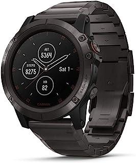 Garmin fēnix5X Plus 带GPS的终极综合运动型智能手表,包含彩色Topo地图和Pulse Ox,可进行心率监测,播放音乐,还有支付功能,灰色W /钛带