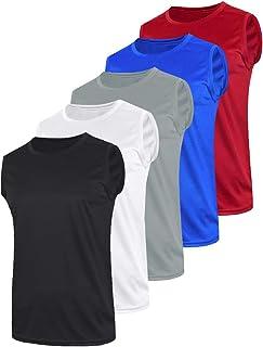 Liberty Imports 5 件装男式运动背心无袖肌肉衬衫快干运动服