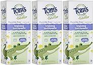 Tom's of Maine 胶状幼儿无氟天然牙膏,淡水果味,3件,1.75盎司/4