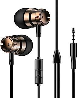 入耳式有线耳机。 重低音音质音乐运动耳机。兼容设备:iPod、iPhone、iPad、Android、平板电脑、电脑等,带标准 3.5 毫米音频插孔。