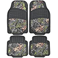 BDK Camouflage 4 Piece All Weather Waterproof Rubber Car Floor Mats - Fit Most Car Truck SUV, Trimmable, Heavy Duty