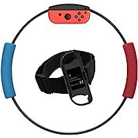 带有 Adventure Accessories 身体传感器运动绷带瑜伽健身环,环锥和腿带,兼容 Switch Ring…