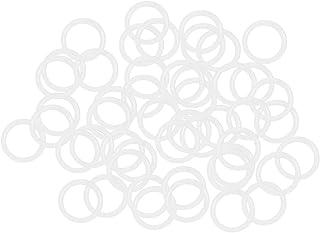 uxcell 硅胶 O 形圈,19 毫米 OD 14.2 毫米 内径,2.4 毫米宽度 VMQ 密封垫圈,用于压缩机阀门维修,白色,50 个装