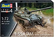Revell 03328 T-55A/AM 带 KMT-6/EMT-5,1:72 比例塑料模型套件