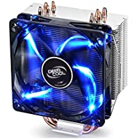 DEEPCOOL CPU Cooler 4 heatpipes 120 mm PWM 风扇带蓝色 LED 通用插座 MS…