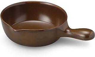CtoC JAPAN 电杜锅 直径约16厘米 BAR 适用 适用于明火加热 微波炉加热 适用于烤箱的 PHADO 炖锅 棕色 直径約16㎝ フォンデュ ソース パン